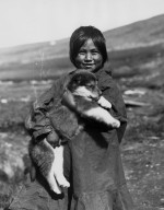 Wales girl with pup