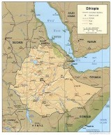 Abyssinia, Map of Ethiopia formally known as Abyssinia