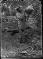 Jodrava Drinking Water from Willow Jug