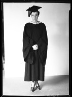 Hannah Marie Wormington in cap and gown