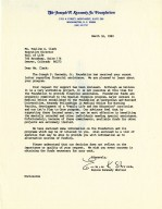 Letter from Eunice Kennedy Shriver regarding a grant request.