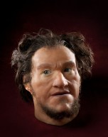 Reconstruction of hominid head Homo sapiens