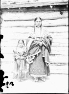 Young mother and 5 year old girl