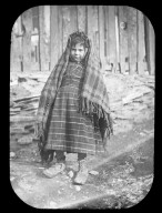 Child with blanket wrap