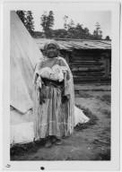 Elder Jicarilla Apache at Home
