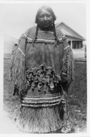 Woman in Buckskin Dress