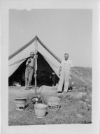 Markman and Reinheimer Outside Camp Tent