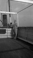 A.C Rogers on board ship