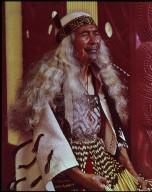 Dignified Maori kuia (old lady)