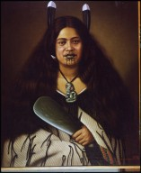 Lindauer Painting of female Maori