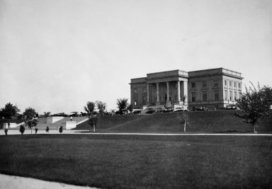 Western view of musuem building before 1918