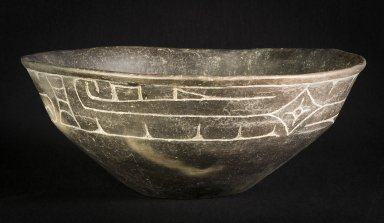 Incised bowl with diamond design.