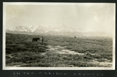 "Man and horse in ""Caribou Country"""