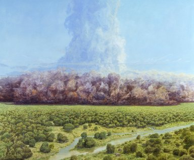 Ancient Denvers Paintings - The Rockies Explode