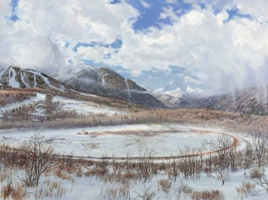 Snowmass Village paintings - Today, Winter
