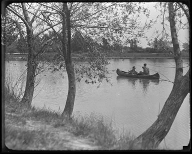 Canoe on Washington Park Lake
