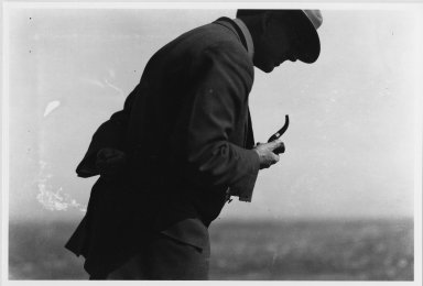 Unidentified man with pipe