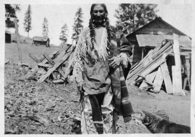 Jicarilla Apache man in native costume