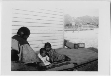 Jicarilla Apache mother and children