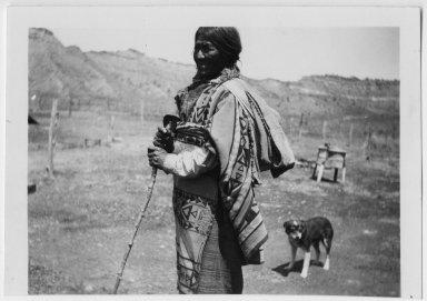 Jicarilla Apache woman in native costume