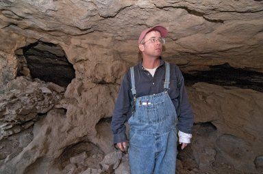 Dr. Steve Nash at the Hinkle Park Cliff Dwelling research site.