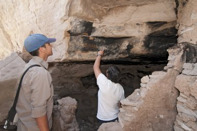 Vincent Morris and Salamasina Fifta at the Hinkle Park Cliff Dwelling near Reserve, New Mexico.