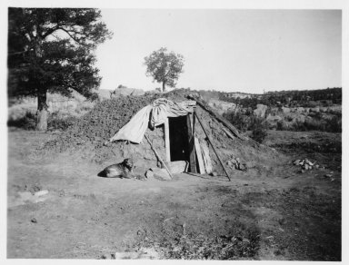 Earth covered hogan or sweat lodge.