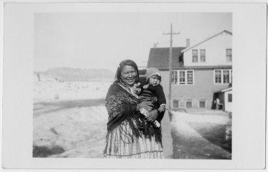 Monis Panzy Montoya and baby Janice.