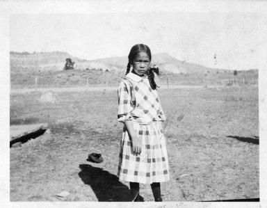Anna Tafoya as a Schoolgirl