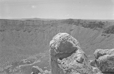 Looking into crater from rim