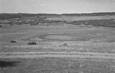 Crater in the landscape