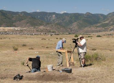 Fieldwork at Scott Springs archaeological site