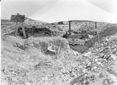 Excavation site at Horsetail Creek