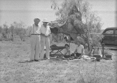Field camp scene