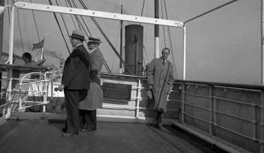 R.J. Niedrach on board ship