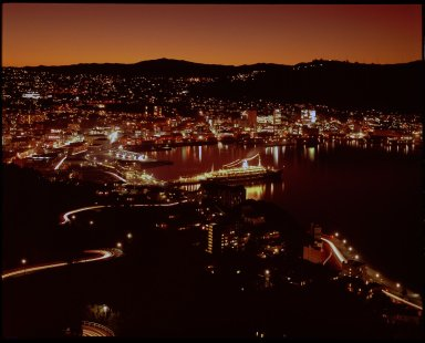 Wellington by night from Mt. Victoria.