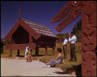 Tourists & their Maori guide