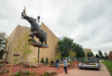Bronze Mastodon Installation