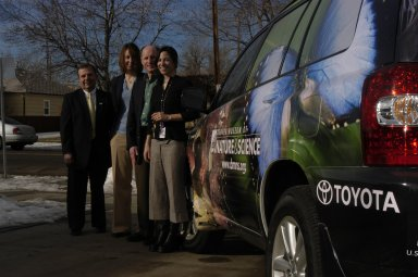 Presentation of Toyota Outreach Van to DMNS