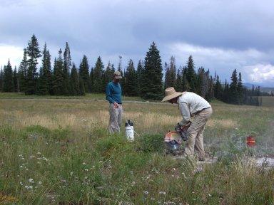 James Hagadorn doing fieldwork in Colorado.