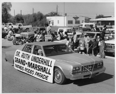Ruth Underhill as Grand Marshall in Parade