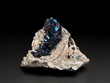 Covellite crystals on quartzite