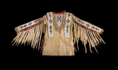 Rawhide Beaded Warrior's Shirt, Blackfeet