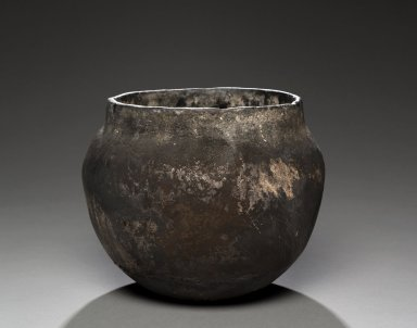 Taos Blackware Necked Jar.