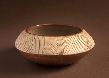 Mica Pottery Bowl from San Juan Pueblo signed by Felicita Garcia.