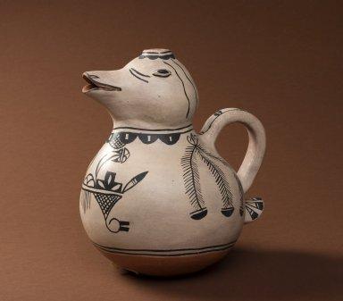 Cochiti Pueblo effigy pitcher of a duck.