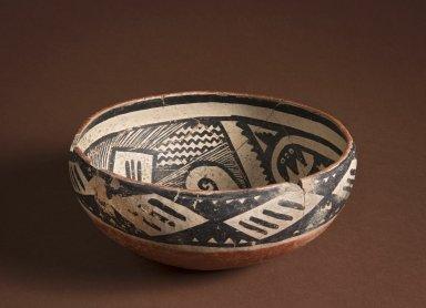 Ancestral Pueblan (Anasazi) Four Mile Polychrome pottery effigy bowl.