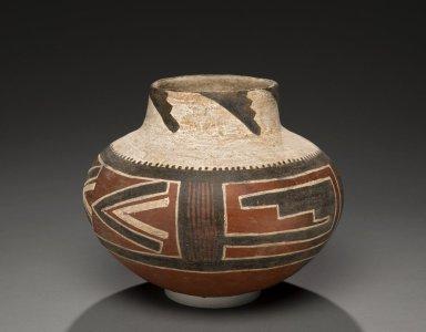Ancestral Pueblan (Anasazi/ Cibola Anasazi) Four Mile Polychrome Necked Jar.