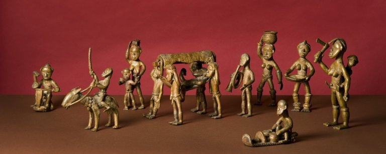 A group of African figurines