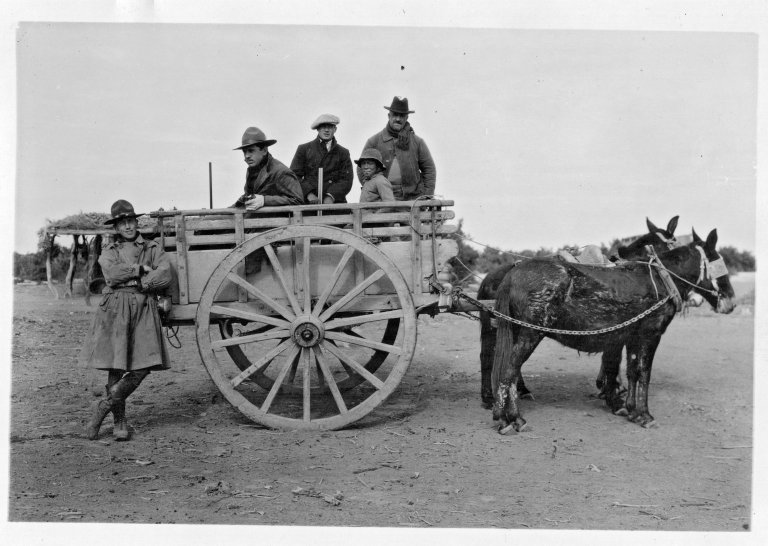 Ass Cart with expedition members